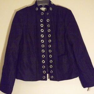 Sag Harbor jacket with grommet detail NWT
